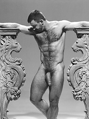 Hairy dad shooting in vintage scene - Gay porn pics at GayStick.com