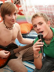 Sweet smooth and skinny singing boys