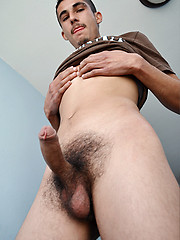 Hot latin gay riding hard dick