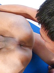 Bareback wrestling between horny asian gay boys - Gay porn pics at GayStick.com