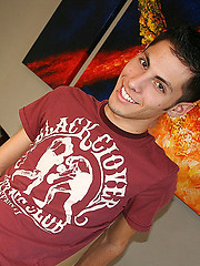 Nineteen year old Andy Cortez with his killer smile, smooth and slender body