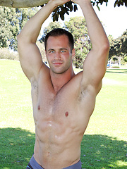 Christian is a big, 25-year old, beefy guy - Gay porn pics at GayStick.com