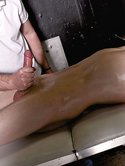 Straight boy Daniel Johnson gets a massage from resident dom Sebastian Kane