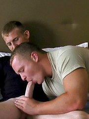 Cute recruit Jimmy services Brocks big tool - Gay porn pics at GayStick.com