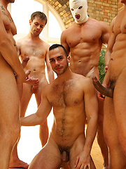 Birthday sperm bukkake for horny gay Pablo Nunez - Gay porn pics at GayStick.com