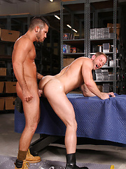 Shay and Damien are off the clock and make the most of their break time - Gay porn pics at GayStick.com