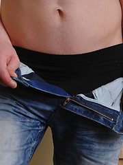 Cute 18year old bottom boy David shows us his stuff in this sexy solo pics - Gay porn pics at GayStick.com