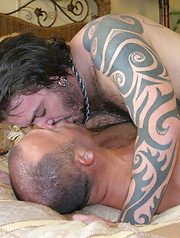 Tattooed Rock Ramsey and Big Boy Brock Hart take to sex like ducks in water  - Gay porn pics at GayStick.com