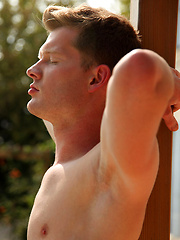 Hugo Mex is straight, strawberry blonde, a porn virgin and a very handsome young German lad - Gay porn pics at GayStick.com