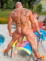 Gay sex near the pool. Marko Lebeau and Max Chevalier - Gay porn pics at GayStick.com