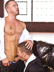Marc Dylan presents his smooth ass for Steve Vex - Gay porn pics at GayStick.com