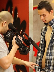 Cute handsome boy touching his uncut love tool before camera - Gay porn pics at GayStick.com