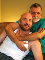 Sexy John Morewood and thick bearded Kroy Bama - Gay porn pics at GayStick.com