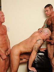 Hot gay threesome with Nick Moretti, Jake Norris and Ben Statham  - Gay porn pics at GayStick.com