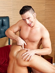 Reese jumping into a hardcore ass fucking with Josh - Gay porn pics at GayStick.com