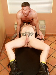 Matt Sizemore and Clark Longhammer are here to use their nice big cocks to fuck and cum - Gay porn pics at GayStick.com