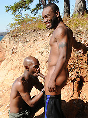 Tattooed black stud Phenix is back for scene with Black Rod
