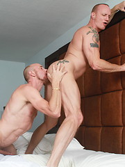 Mason and Parker kiss and grope as their sweaty bodies slap up against each other - Gay porn pics at GayStick.com
