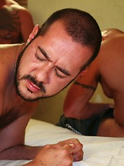 Hot Brazilian Pablo Paris bends over and raises his legs for loads