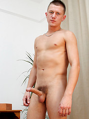 Josh Jared jerks his 8 inch uncut cock and delivers a truly messy cum load! - Gay porn pics at GayStick.com