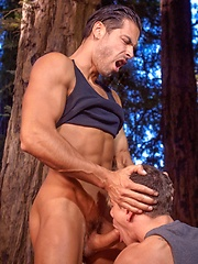Jesse Santana presents his tight hole for hard D.O. cock