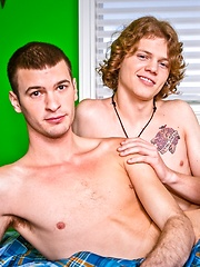 Long-haired red fucks his roomate - Gay porn pics at GayStick.com