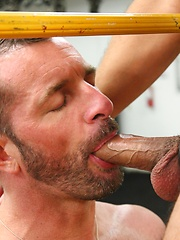 Morgan Black usually likes to top now had be a bottom as he was paired up with Sebastian Rio - Gay porn pics at GayStick.com