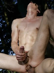 The great outdoors between horny gays - Gay porn pics at GayStick.com
