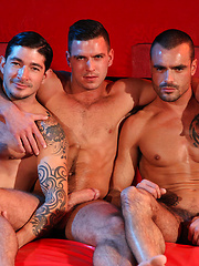 Three of hottest guys together. Paddy O Brian, Issac Jones and Johnny Hazzard - Gay porn pics at GayStick.com