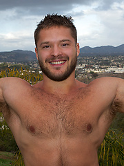 Hudson is a 23yo young muscle bear - Gay porn pics at GayStick.com