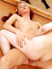 Blond Twink Gives His Dancing Fuck-Buddy A Bangin' Good Workout! - Gay porn pics at GayStick.com