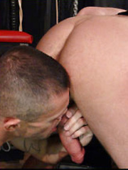 The scene starts out with Chad Brock and Drew Drive locking lips - Gay porn pics at GayStick.com