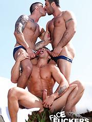 FACE-FUCKING TO THE MAX - Gay porn pics at GayStick.com