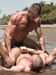 Jake Genesis Fucks Jesse Santana on the Beach - Gay porn pics at GayStick.com