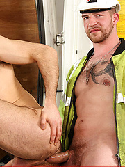 Jeff Stronger and Dolan Wolf, together for the first time, in this real man, all beef scene - Gay porn pics at GayStick.com