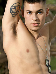 Marine David Never-Before-Scene Solo - Gay porn pics at GayStick.com