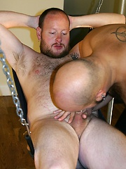 Nate Wolf is a twisted and perverted pierced beefy guy just drooling to plow Harlan Christopher - Gay porn pics at GayStick.com