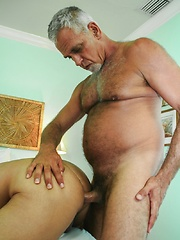Daddy Jeff is paired with horny Latin stud Tony Rivera - Gay porn pics at GayStick.com