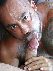 Horny beast Bo Bangor stretches his thick dick Lex Antoine cherry ass - Gay porn pics at GayStick.com