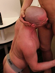 Sage Daniels didnt waste time on this hot bottom and got into his throat nice and deep