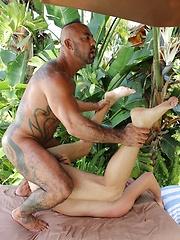 Bo Banger got his chance to bareback the furry butt of Christian Matthews - Gay porn pics at Gaystick