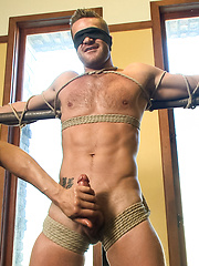 Landon Conrad Tied Up And Edged - Gay porn pics at GayStick.com