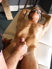 Sebastian Kane Strokes The Cum From Oli Jay - Gay porn pics at GayStick.com