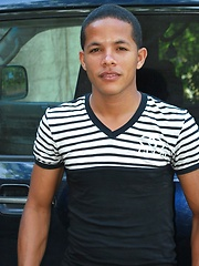 Domingo is a very hot young Latino with a thick uncut Latin cock - Gay porn pics at Gaystick