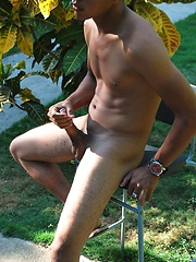 Domingo is a very hot young Latino with a thick uncut Latin cock - Gay porn pics at GayStick.com