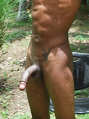 Martin has a perfect body, V-shaped torso, smooth chest, hard pecs, 6-pac abs, and an uncut cock - Gay porn pics at GayStick.com