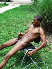 Martin has a perfect body, V-shaped torso, smooth chest, hard pecs, 6-pac abs, and an uncut cock - Gay porn pics at Gaystick