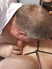 Roped Up And Wanked Off - Gay porn pics at GayStick.com