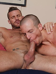 Beau Flexxx is known for his huge cock and Landon Conrad is a true porn star - Gay porn pics at GayStick.com
