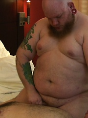 Shaved heads, tats, piercings, long facial hair, this has it all - Gay porn pics at GayStick.com